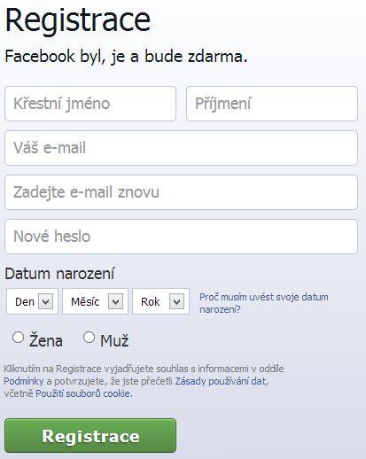 Se Facebook Přihlasit